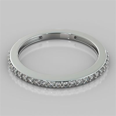 Surface Prong Setting Round Cut Wedding Band