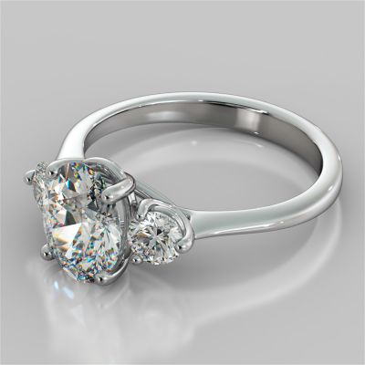 Oval Cut Three-Stone Engagement Ring