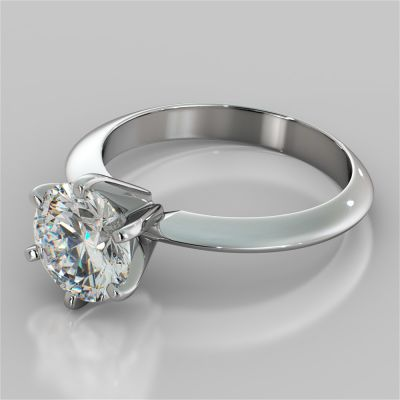 Classic 6-Prong Round Cut Tiffany Style Engagement Ring