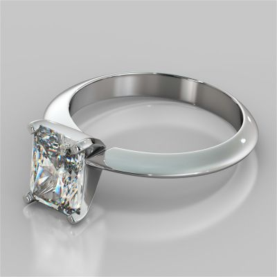 Radiant Cut Tiffany Style Engagement Ring