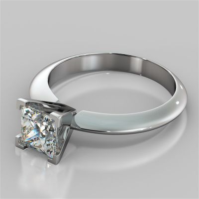 Princess Cut Tiffany Style Engagement Ring
