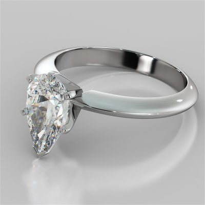 Pear Cut Tiffany Style Engagement Ring