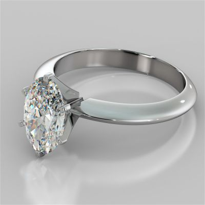 Oval Cut Tiffany Style Engagement Ring