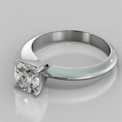 Cushion Cut Tiffany Style Engagement Ring