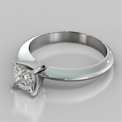 Asscher Cut Tiffany Style Engagement Ring