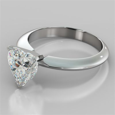 Heart Shape Classical Tiffany Style Engagement Ring