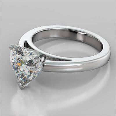 Heart Cut Cathedral Style Engagement Ring