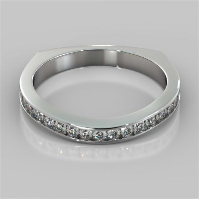 Euro Style Channel Set Wedding Band