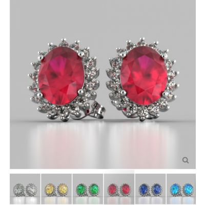 Oval Cut Double Halo Earrings