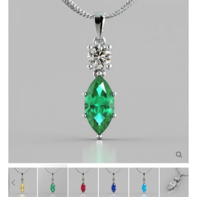 Marquise Cut Drop Style Pendant