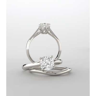 Lab Grown Diamond Round Cut Solitaire Engagement Ring
