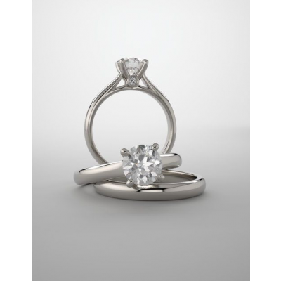 Cushion Cut Lab Grown Diamond Cathedral Engagement Ring