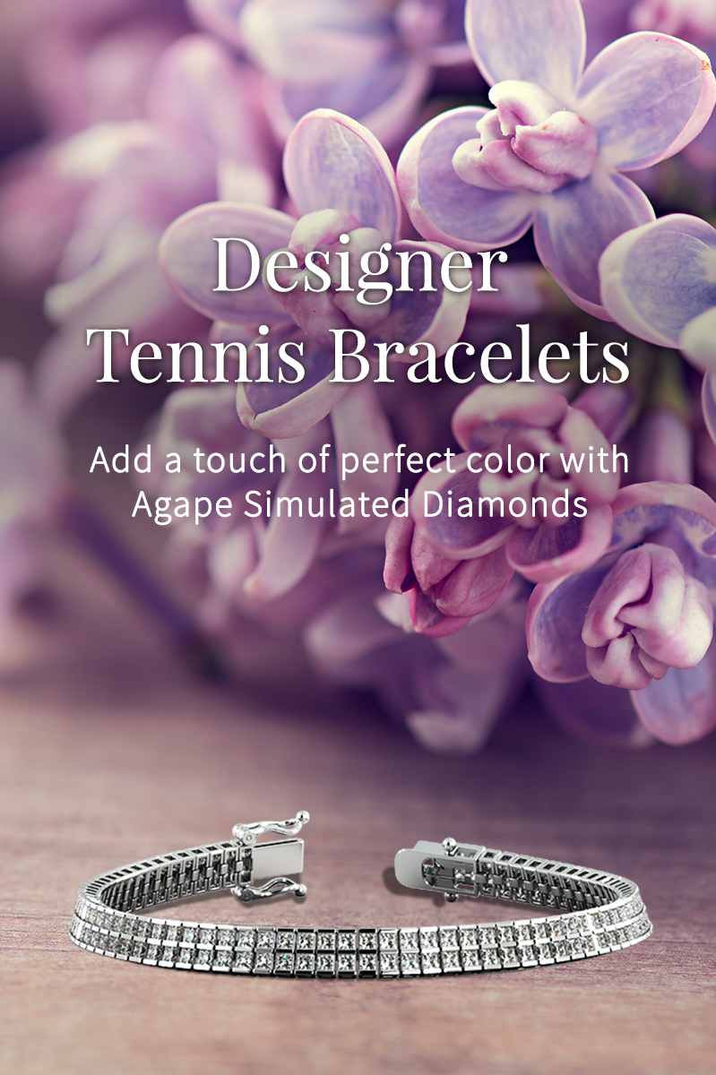 agape diamonds tennis bracelet