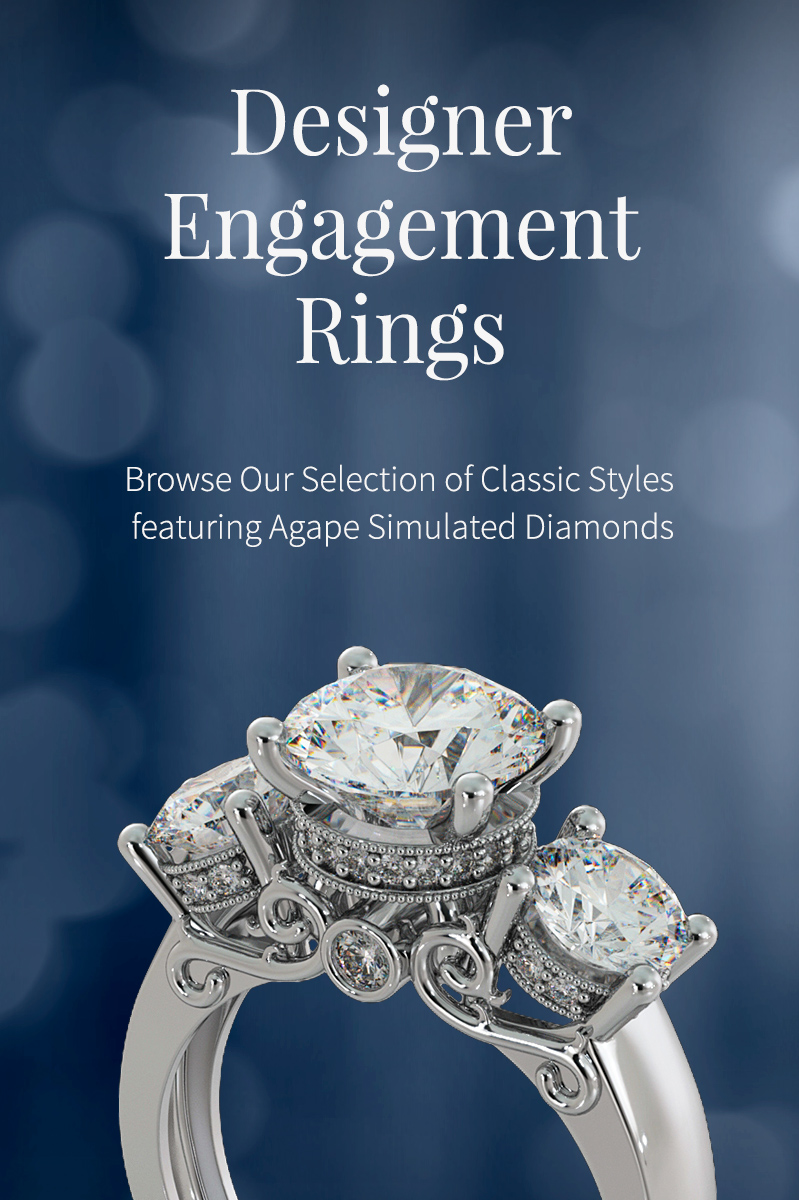 Agape Diamonds Designer Engagement Rings