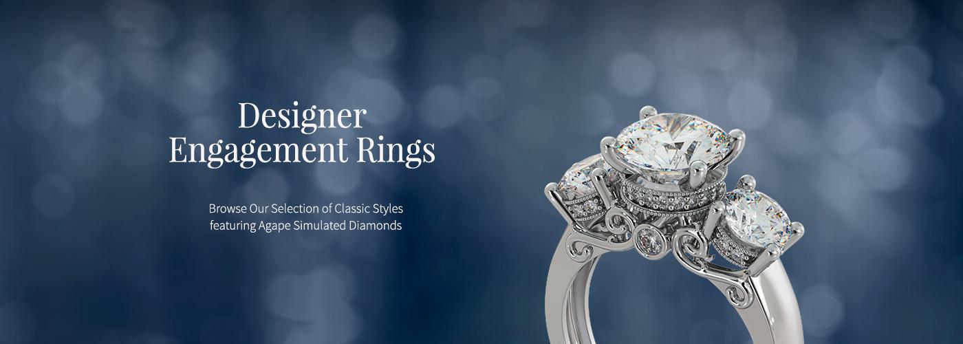 Agape Diamonds Designer Engagement Rings
