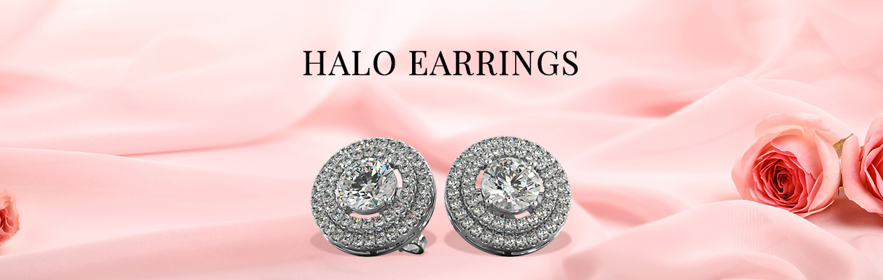 Agape Diamonds Halo Earrings